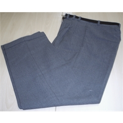 Clearance Mid Grey Front Pleat Grant