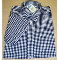 Boys Navy Check Summer Shirt