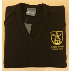 Sandhurst V-Neck Jumper with New Logo