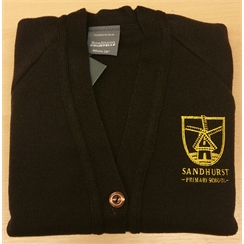 Sandhurst Cardigan with New Logo