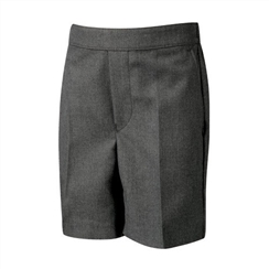 David Luke Mid Grey Flat Front Pull Up Shorts