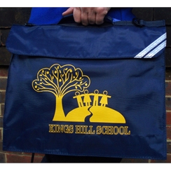 Kings Hill Book Bag with Logo