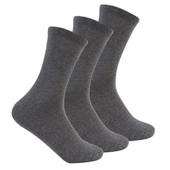 Grey 3-Pack Short Socks