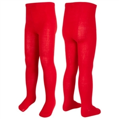 Red Twin Pack School Tights