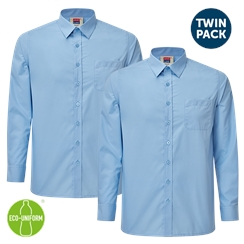 Boys Twin-Pack Long Sleeved Blue Shirt