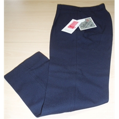 Clearance Dark Navy Single Pleat Front Regular Fit Senior Boys Trousers
