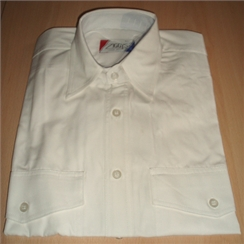 Clearance White Cotton Loose Fit Shirt