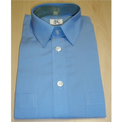 Clearance Blue Baggy Fit School Shirt