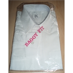 Clearance White Baggy Fit School Shirt