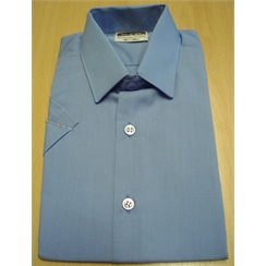 Clearance Short Sleeved Blue School Shirts