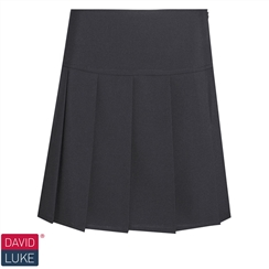 Black Drop Waist Knife Pleat Senior Skirt