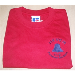 Hever Red/Penshurst House PE T-Shirt with Logo