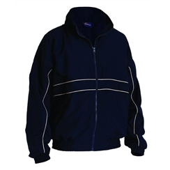 Navy Tracksuit Top with White Piping