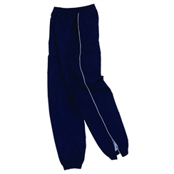 Navy Tracksuit Bottom with White Piping