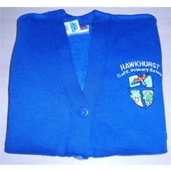 Hawkhurst Primary Sweatshirt Cardigan with Logo