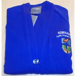 Hawkhurst Primary Knitted Cardigan with Logo