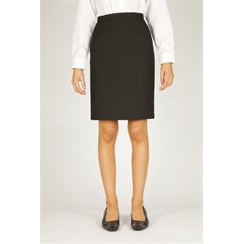 Black Senior Back Vent Skirt