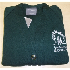 Goudhurst & Kilndown Cardigan with Embroidered Logo