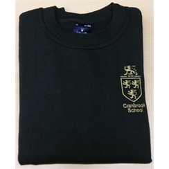 Cranbrook School Black PE Sweatshirt with Logo
