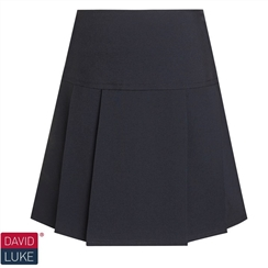 Black Senior Drop Waist Pleated Skirt