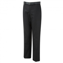 David Luke Black Flat Front Regular Fit Senior Boys Trousers