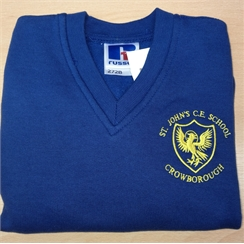 St Johns V-Neck Sweatshirt with Logo