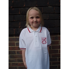 Rotherfield Red Tipped PE Polo with Logo