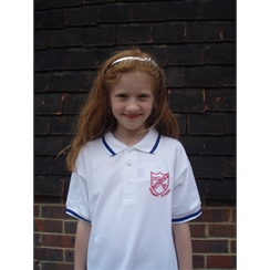 Rotherfield Blue Tipped PE Polo with Logo