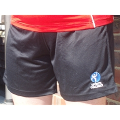 Clearance Black Football Shorts with Sports Colleges Logo
