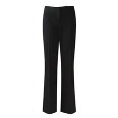 Black Senior Girls Plain Front Trouser