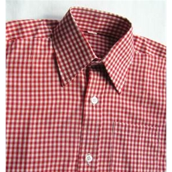 Boys Red Checked Short Sleeved Summer Shirt