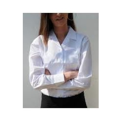 Clearance Rever Collar White Blouse