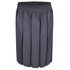 Grey Junior Box Pleat Skirt