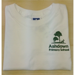 Ashdown Primary Infants White PE T-Shirt