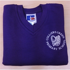 Colliers Green Purple Sweatshirt with Logo