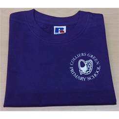 Colliers Green Purple PE T-shirt with Logo