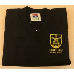 Sandhurst V-Neck Sweatshirt with Logo