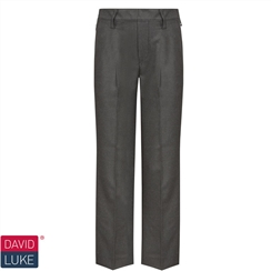 David Luke Boys Charcoal Junior School Trouser