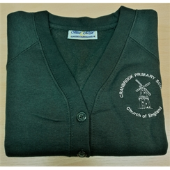 Cranbrook Primary Sweatshirt Cardigan with Logo