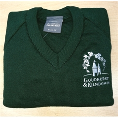 Goudhurst & Kilndown V-Neck Jumper with Logo