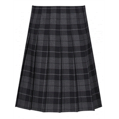 Senior Stitch Down Pleat Castle Tartan Skirt