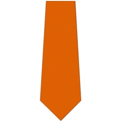 Beacon Year 7 Plain Orange Tie