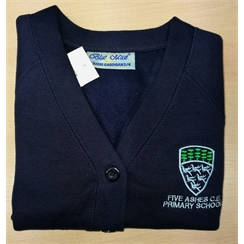 Five Ashes Primary Cardigan with Logo