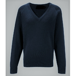 Clearance Navy Acrylic V-Neck Jumper