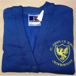 St Johns Cardigan with Logo