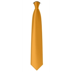 Plain Yellow Senior Length School Tie
