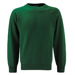 Plain Bottle Green Crew Neck Sweatshirt