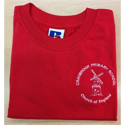 Cranbrook Primary Red House PE T-Shirt with Logo