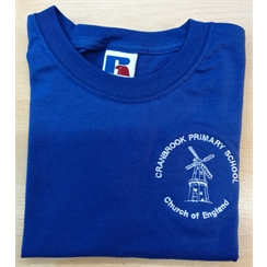 Cranbrook Primary Blue House PE T-Shirt with Logo