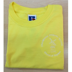 Cranbrook Primary Yellow House PE T-Shirt with Logo